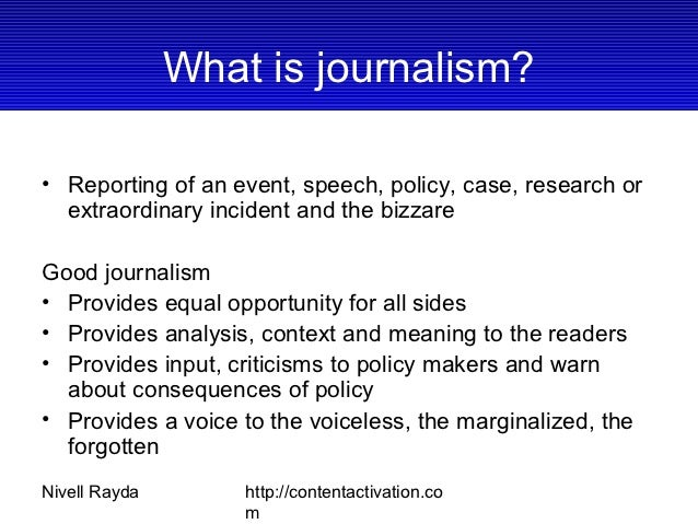 Journalism Training Slide 3