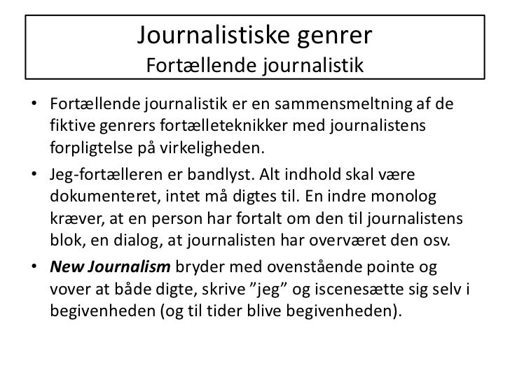 fortællende journalistik essay