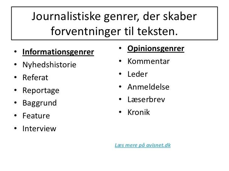 journalistik genre