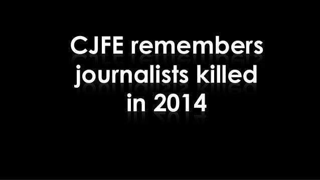 CJFE remembers journalists killed in 2014