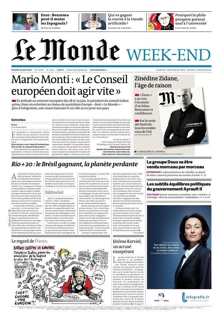journal le monde samedi 23 juin 2012. Black Bedroom Furniture Sets. Home Design Ideas