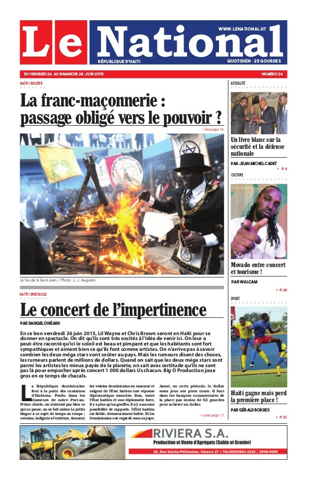 » lire page 14 » P. 20 » P. 21 »  P. 4 CULTURE SPORT L a République dominicaine fout à la porte des centaines d'Haïtiens....