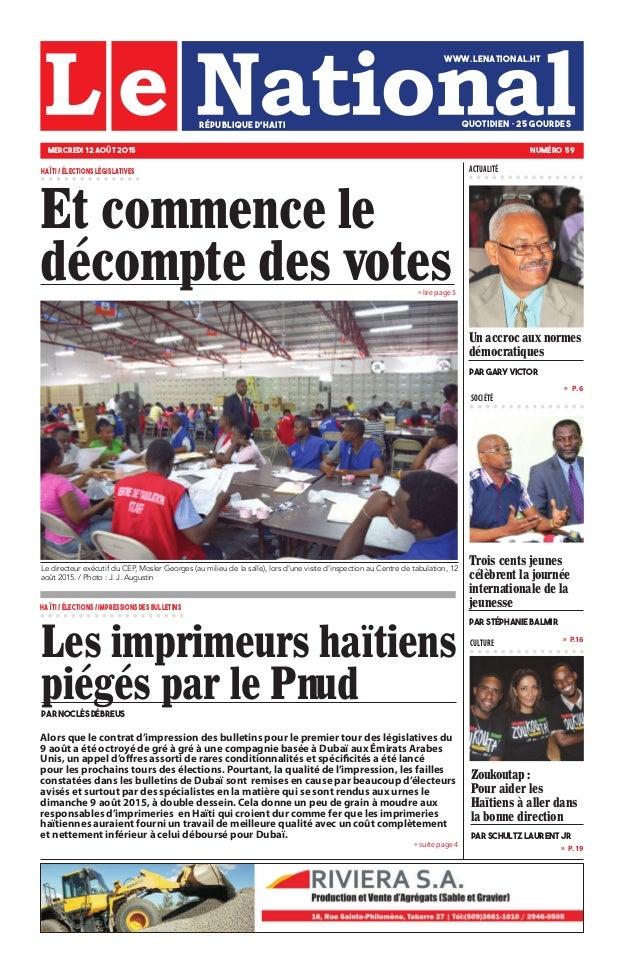 » lire page 5 » P.16 » P. 19 »  P. 6 SOCIÉTÉ CULTURE » suite page 4 Trois cents jeunes célèbrent la journée international...