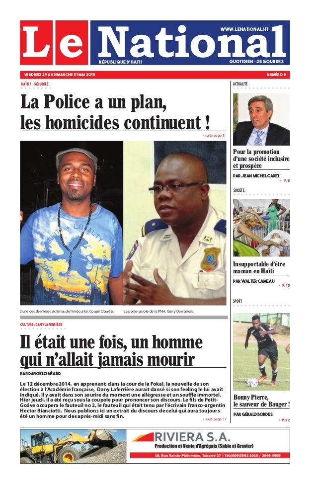 Le 12 décembre 2014, en apprenant, dans la cour de la Fokal, la nouvelle de son élection à l'Académie française, Dany Lafe...