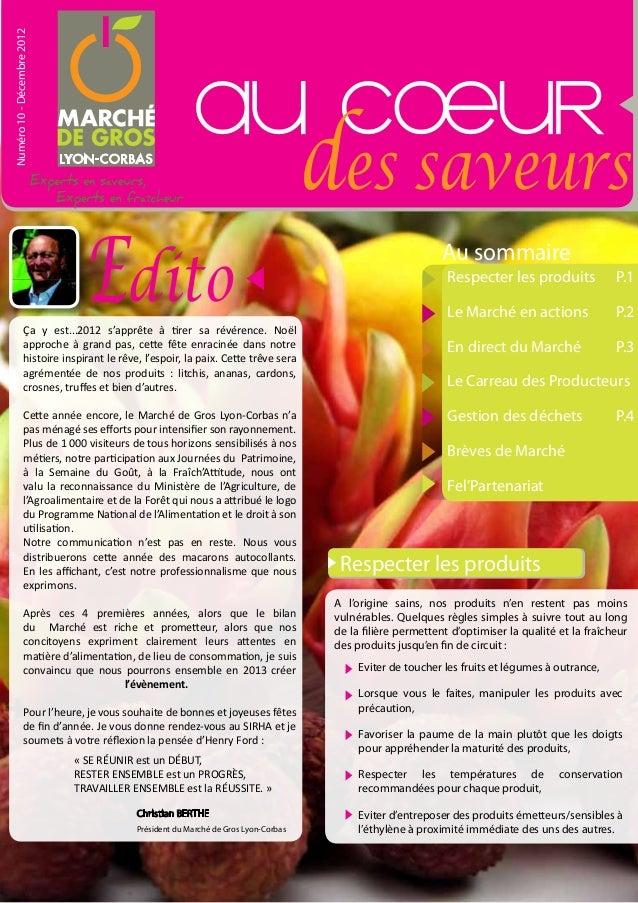 Numéro 10 - Décembre 2012                                                        au cOeur                                 ...