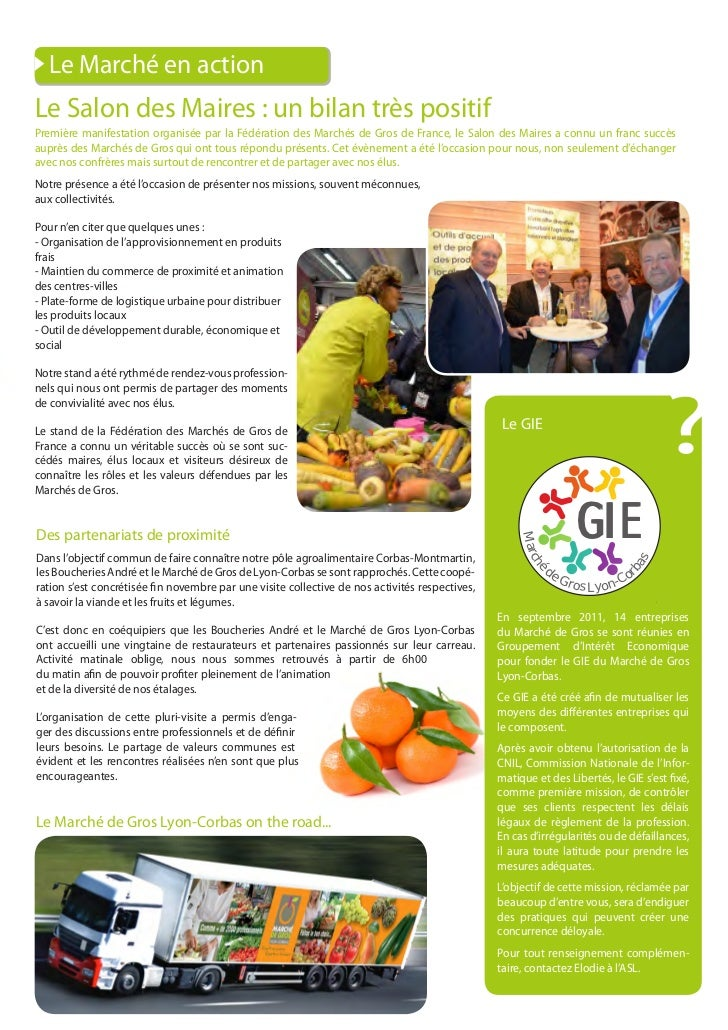 Au Coeurs des Saveurs - N°6 - Journal du Marché de Gros Lyon-Corbas Slide 3