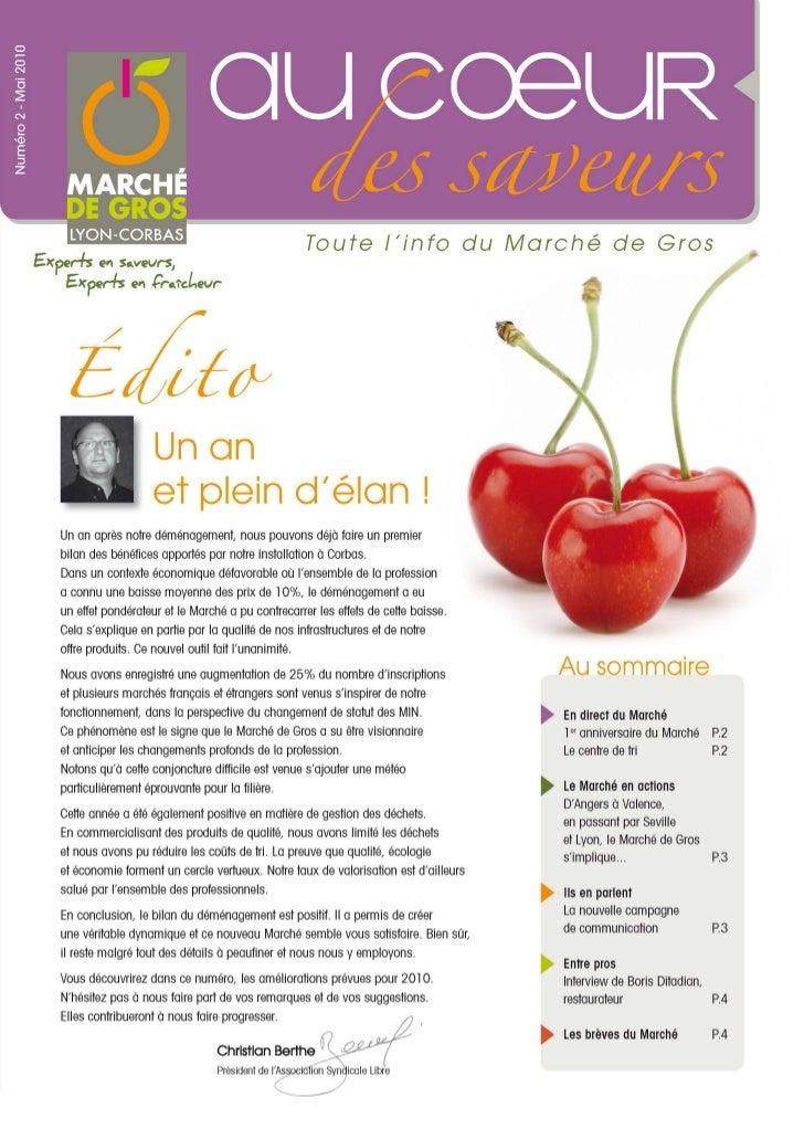 Au Coeur des Saveurs - N°2 - Journal du Marché de Gros Lyon-Corbas