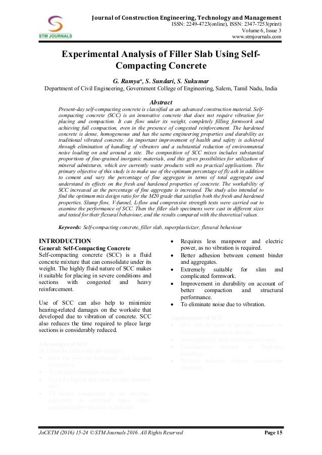 Journal of Construction Engineering Technology & Management vol 6 iss…
