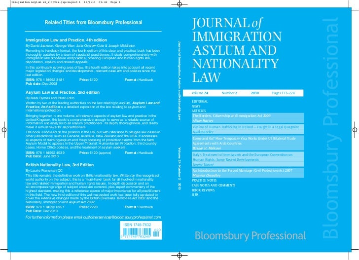 Immigration Asylum 24_2 cover.qxp:Layout 1     16/6/10   09:42   Page 1                                                   ...