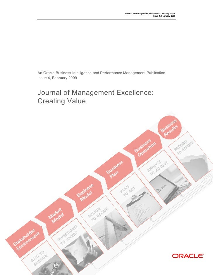 Journal Of Management Excellence 2009 Feb