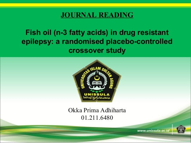 Journal reading fish oil in drug resistant epilepsy for Can fish have seizures