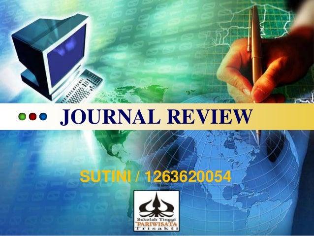 JOURNAL REVIEW SUTINI / 1263620054 LOGO