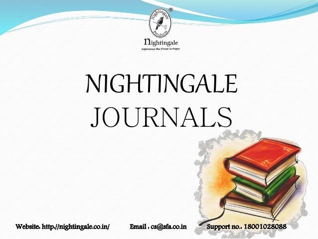 NIGHTINGALE JOURNALS Website: http://nightingale.co.in/ Email : cs@sfa.co.in Support no.: 18001028088