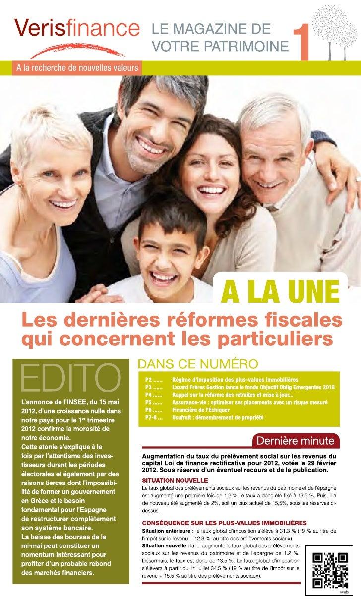 Le journal de Verisfinance
