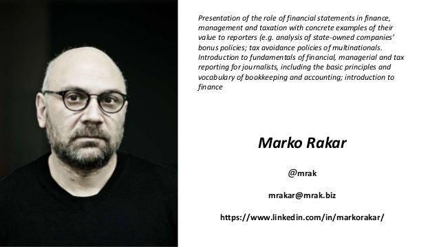 Presentation of the role of financial statements in finance, management and taxation with concrete examples of their value...