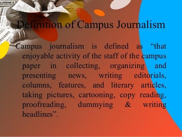 campus journalism media articles