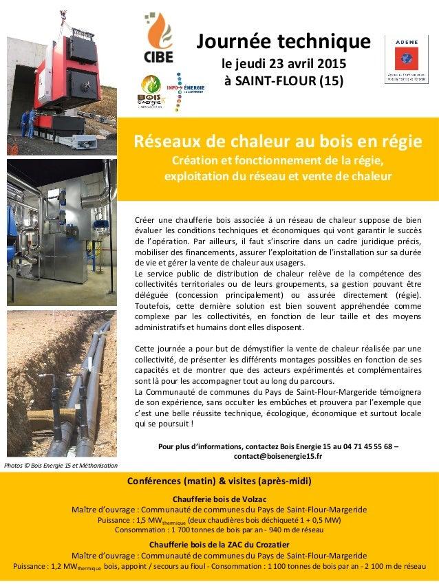 Réseaux de chaleur au bois en régie Création et fonctionnement de la régie, exploitation du réseau et vente de chaleur Jou...