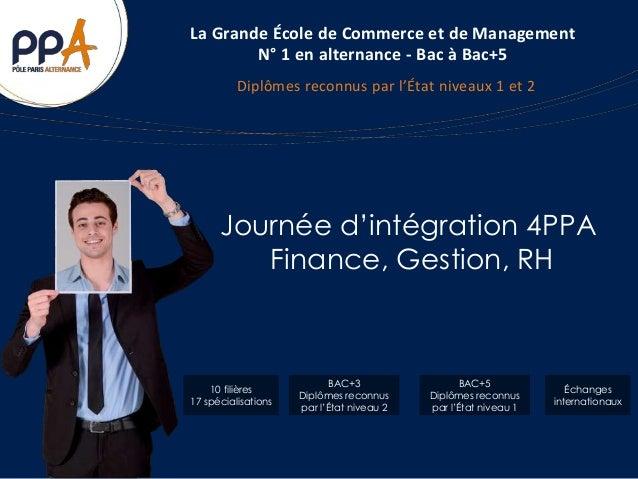 La Grande École de Commerce et de Management  N° 1 en alternance - Bac à Bac+5  Diplômes reconnus par l'État niveaux 1 et ...
