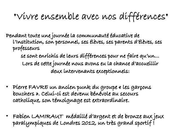 Journée des communautés éducatives du 7 décembre 2012 Slide 2