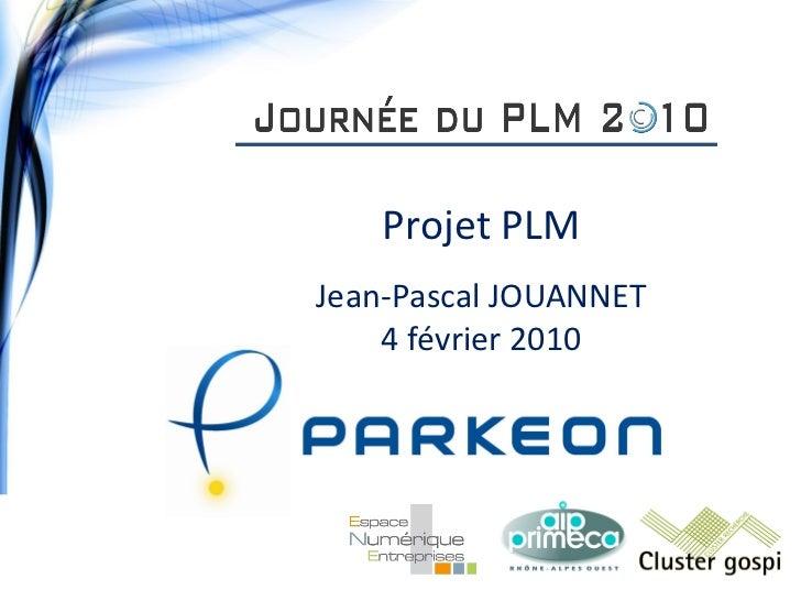 Mise en oeuvre d'un projet PLM chez PARKEON