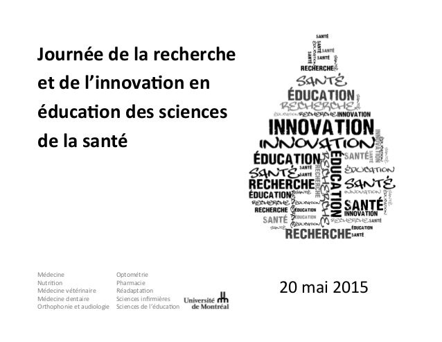 20  mai  2015   Journée  de  la  recherche   et  de  l'innova2on  en   éduca2on  des  sciences ...