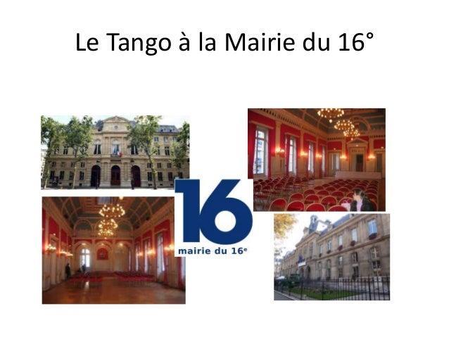 Le Tango à la Mairie du 16°
