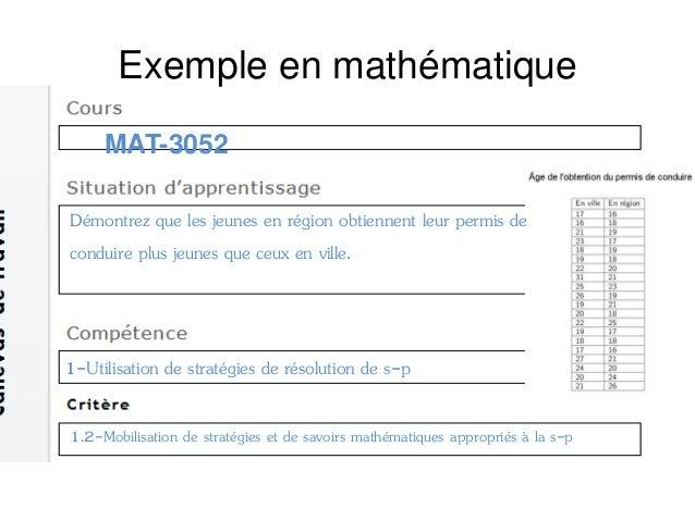 Exemple en mathématique Quels sont les outils statistiques pouvant être utilisés? Parmi les représentations graphiques sui...