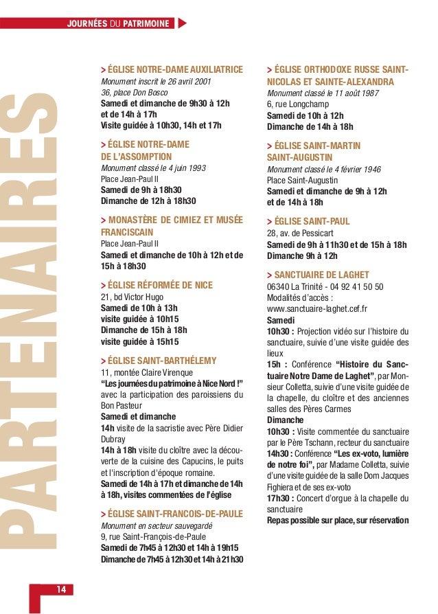 JOURNÉES DU PATRIMOINE 14 > ÉGLISE NOTRE-DAME AUXILIATRICE Monument inscrit le 26 avril 2001 36, place Don Bosco Samedi et...