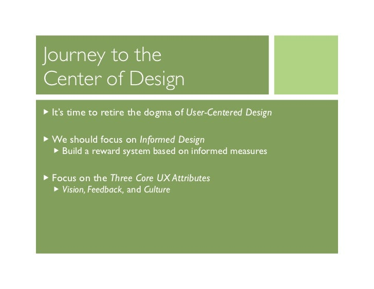 Journey To The Center Of Design