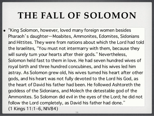 Journey Through The Bible Part 11 The Glory And Tragedy Of Solomon