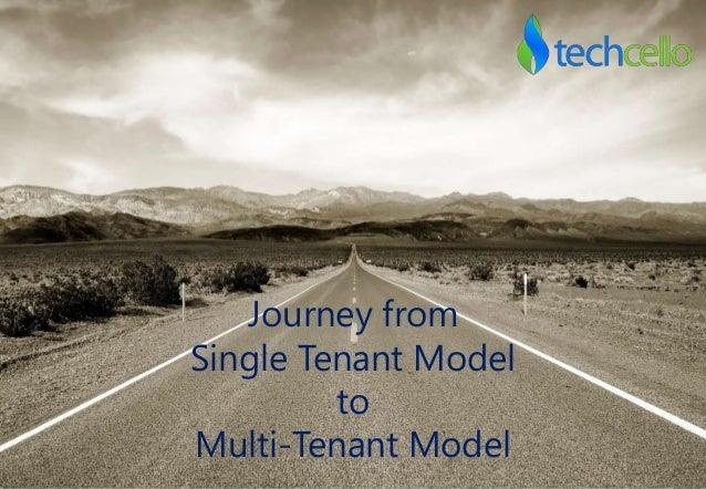 Journey from Single Tenant Model to Multi-Tenant Model