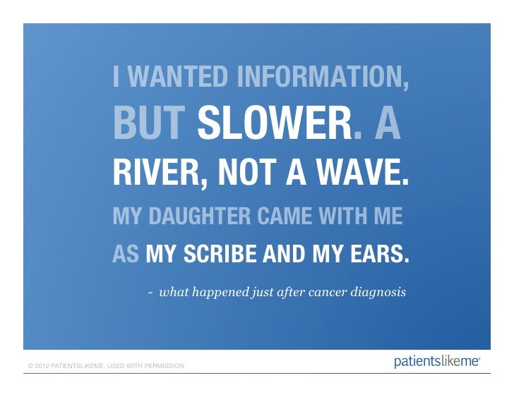 I WANTED INFORMATION,                       BUT SLOWER. A                       RIVER, NOT A WAVE.                        ...