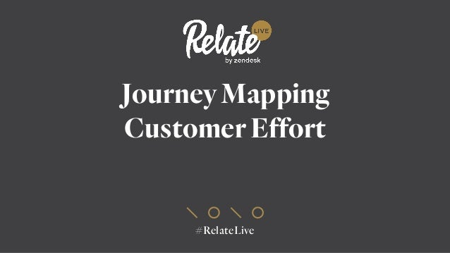 #RelateLive Journey Mapping Customer Effort