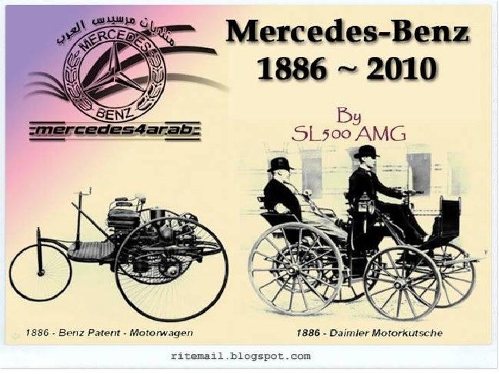 Evolution of Mercedes - Benz Slide 1