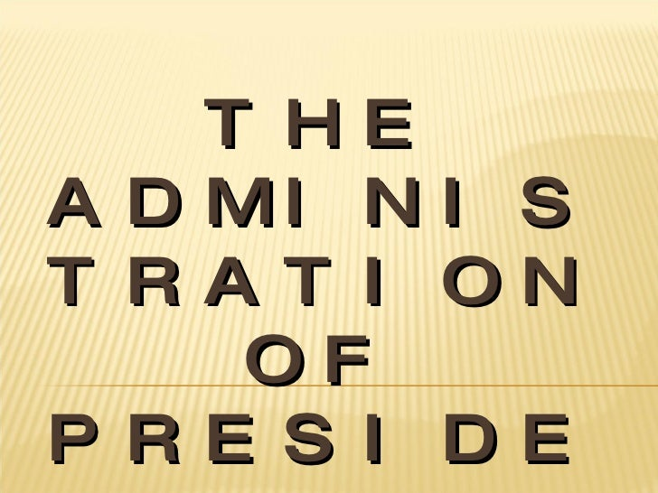 THE ADMINISTRATION OF PRESIDENT JOSEPH ESTRADA