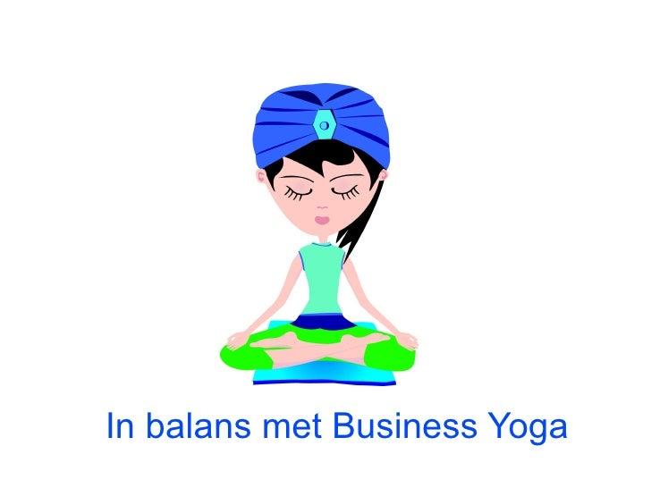 In balans met Business Yoga
