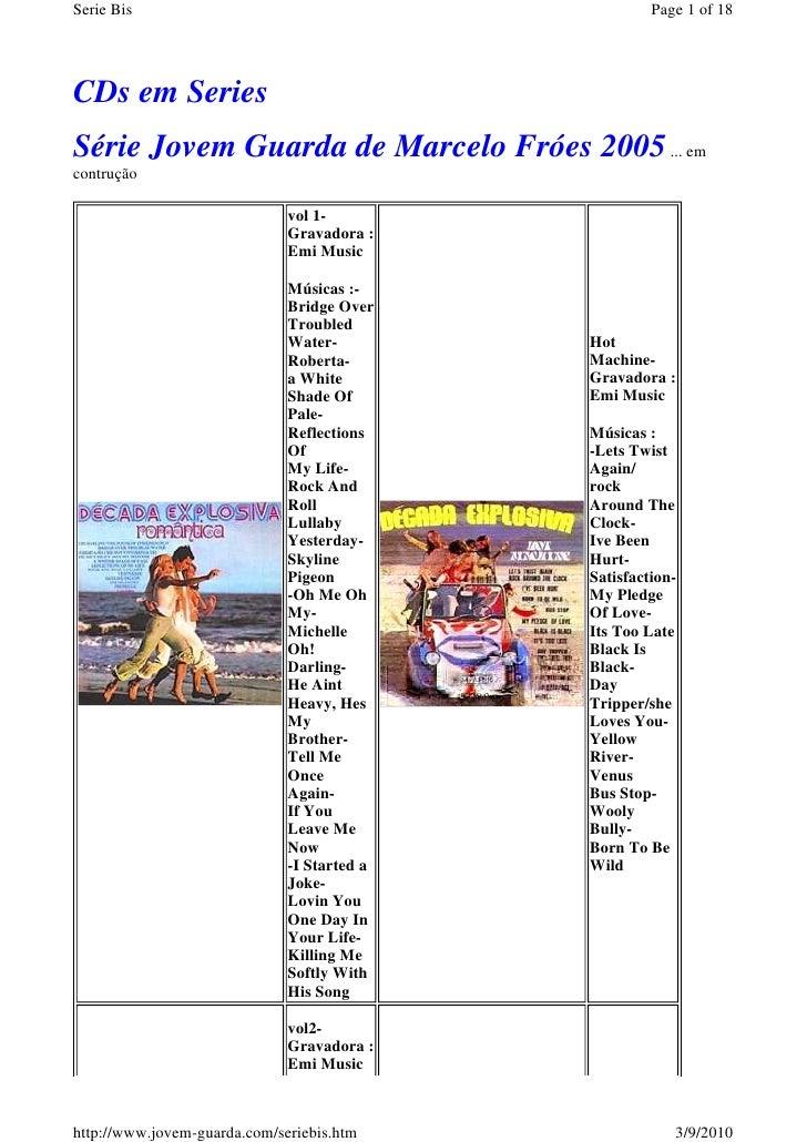 Serie Bis                                             Page 1 of 18     CDs em Series Série Jovem Guarda de Marcelo Fróes 2...