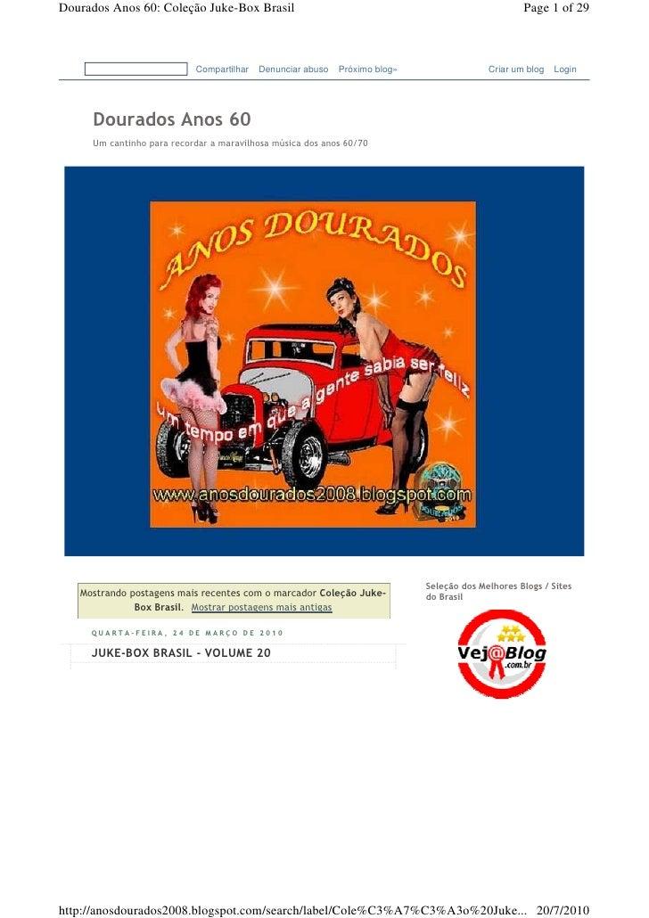 Dourados Anos 60: Coleção Juke-Box Brasil                                                         Page 1 of 29            ...