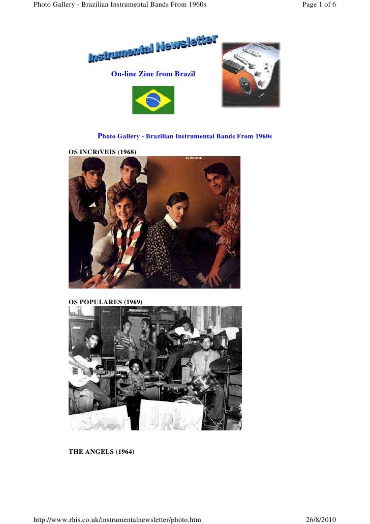 Photo Gallery - Brazilian Instrumental Bands From 1960s                       Page 1 of 6                             On-l...