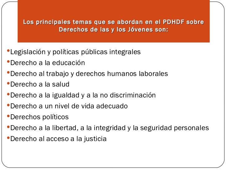 J venes derechos humanos for Derechos de los jovenes
