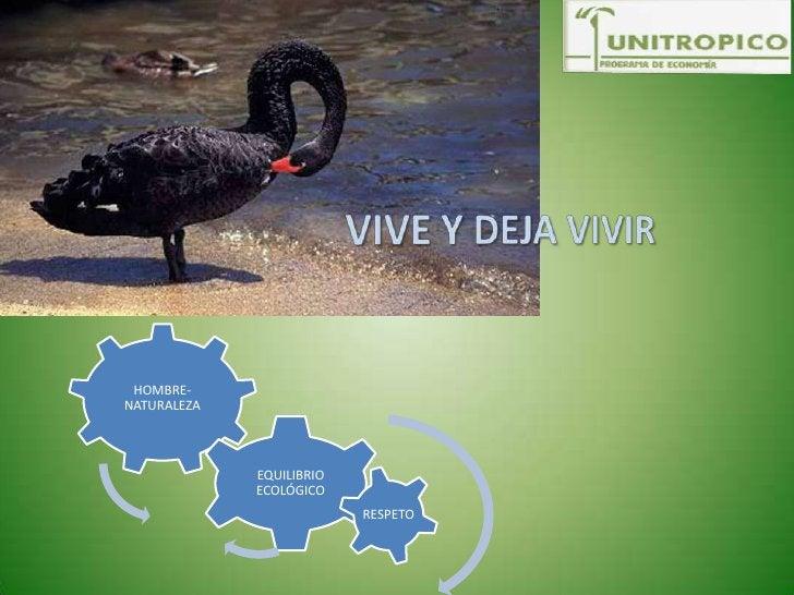 VIVE Y DEJA VIVIR<br />