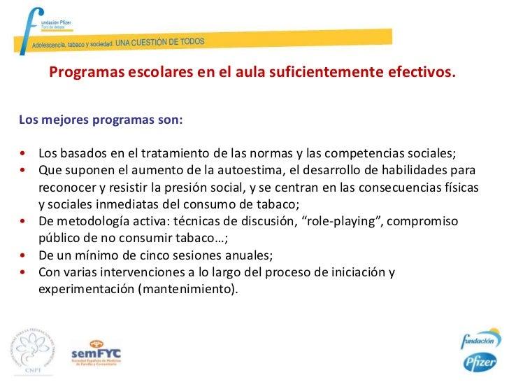 Efectividad de un Programa Comunitario Integrado en la Escuela para reducir la       incidencia del Tabaquismo entre los e...