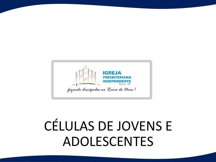 CÉLULAS DE JOVENS E   ADOLESCENTES