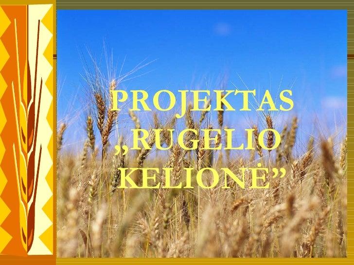 """PROJEKTAS """" RUGELIO   KELIONĖ """""""