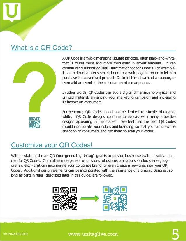 www.unitaglive.com© Unitag SAS 20128I  Choose your QR Code typeBefore creating the QR Code you want to publish, you shoul...