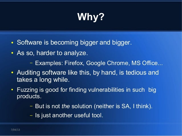 Joxean Koret - Interactive Static Analysis Tools for Vulnerability Discovery [Rooted CON 2013] Slide 3