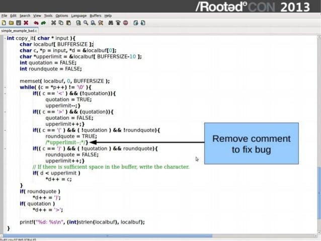 Joxean Koret - Interactive Static Analysis Tools for Vulnerability Di…