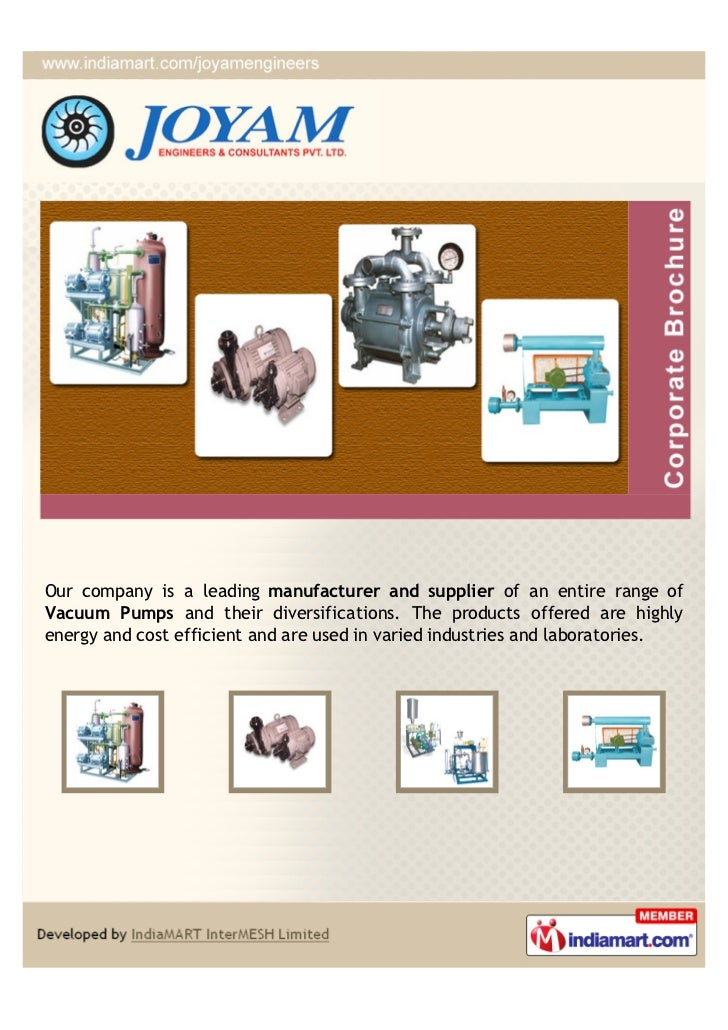 Our company is a leading manufacturer and supplier of an entire range ofVacuum Pumps and their diversifications. The produ...