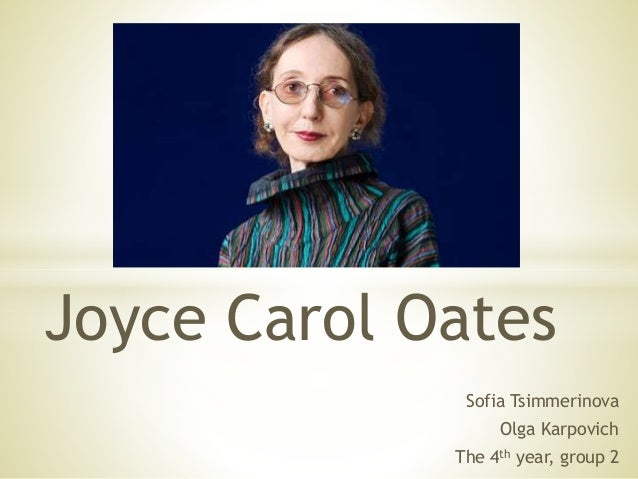 joyce carol oates writing style 'starr bright will be with you soon' (joyce carol oates, writing as rosamond smith (1999) a neon jangle a short story by oates the novel: the style of the 70's.