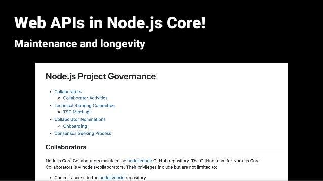 Web APIs in Node js Core: Past, Present, and Future (JSConf EU 2019)
